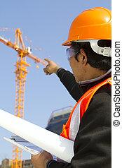 budowniczy, inspektor, pod, Zbudowanie