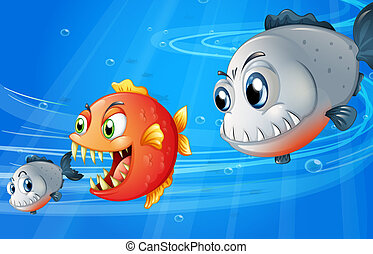 Three scary fishes