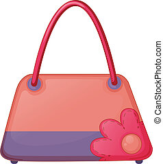 A pink fashion bag - Illustration of a pink fashion bag on a...