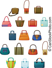 Different designs of bags - Illustration of of the different...