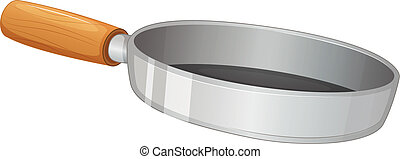 A frying pan - Illustration of a frying pan on a white...