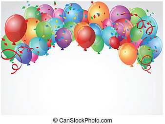 Birthday Celebration - Vector Illustration Of Birthday...