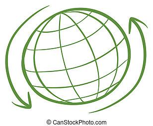 A green globe