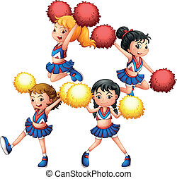 The energetic cheering squad - Illustration of the energetic...