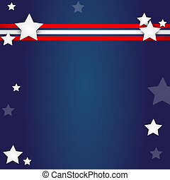 american flag design - elegant american flag design - vector...