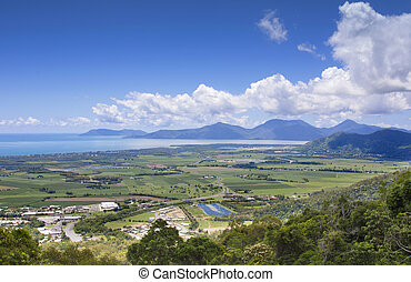Cairns view - view of the city of Cairns from Kuranda range