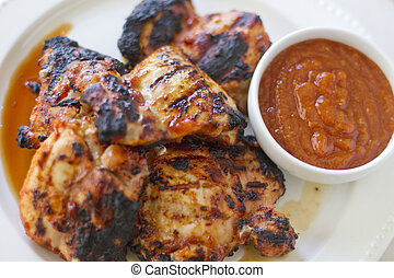 Chipotle Apricot BBQ Chicken - Several spicy chipotle...