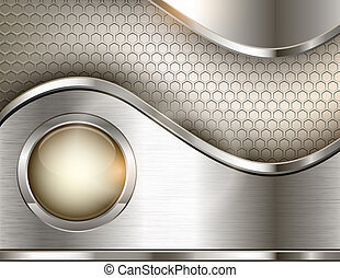 Abstract background with a metallic element. Vector...