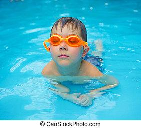activities on the pool - Activities on the pool Cute boy...