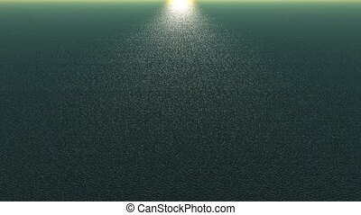 panoramic wide shine wave sea,sunlight reflecting on ocean...