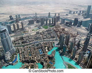 Dubai - Birds view of Dubai city center