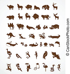 vector collection of animal icons - vector collection of...