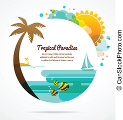 tropical paradise, background travel design