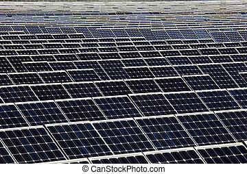 Photovoltaics panels of a solar power station
