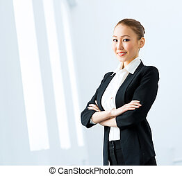 asian business woman - Portrait of a cute asian business...