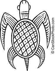 Ethnic turtle - A turtle drawn with a ethnic style to it.