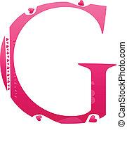 Letter G Love Alphabet Set