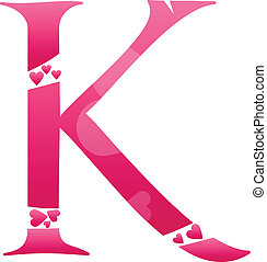 Letter K Love Alphabet Set