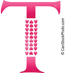Letter T Love Alphabet Set