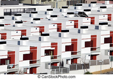 Residential houses in a urbanization in Spain