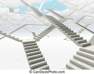 abstract stairs  background