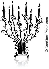 Candlestick with candles for your design