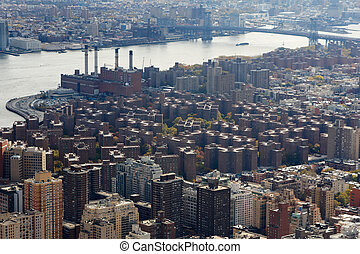 Stuytown on the Manhatan East Side - A view of Stuytown from...