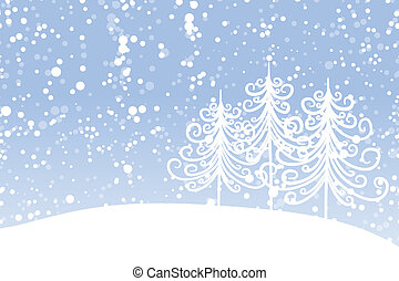 Winter tree for your design. Christmas holiday.
