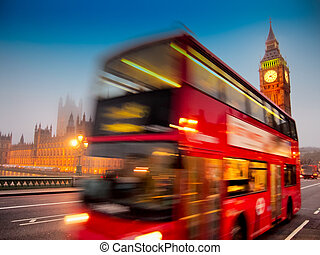 United Kingdom - Big Ben with the Houses Of Parliament and a...