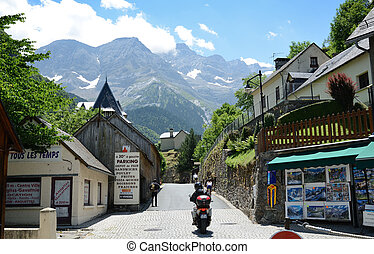Mountain village Gavarnie in the Pyrenees - In the...