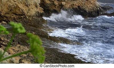 rough waves at coast - 10159 rough waves at coast