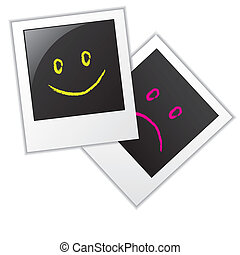 Photo frames with smileys - Photo frames with two kind of...