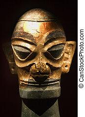 Gold Bronze Statue Sanxingdui Museum Chengdu Sichuan China