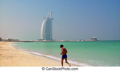 jogging at dubai beach