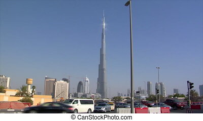 traffic at burj Dubai - DUBAI - SEPTEMBER 9: A traffic shot...