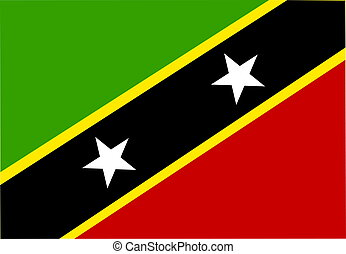 Flag of Saint Kitts and Nevis St., national country symbol...
