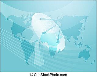 Satellite dish clipart illustrating advanced tele...