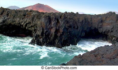 los hervideros vulcan lava cave wav - 10495 los hervideros...