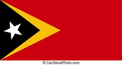 Flag of Timor-Leste, national country symbol illustration