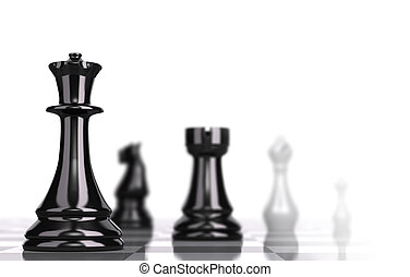 Chessboard Strategic Business Concept - Chessboard with...