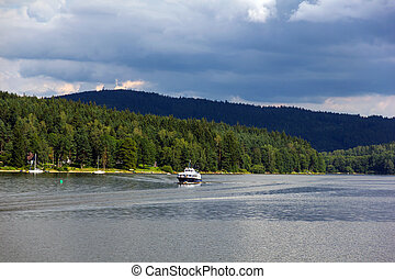 Lipno lake, Czech Republic. - Lipno lake in Czech Republic.