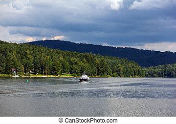 Lipno lake, Czech Republic. - Lipno lake in Czech Republic.