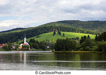 Frymburk at Lipno lake in Czech Republic. - Frymburk - small...