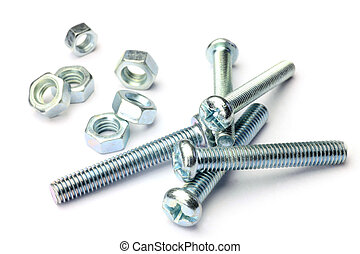 bolt and nut - I took bolt and nut in a white background