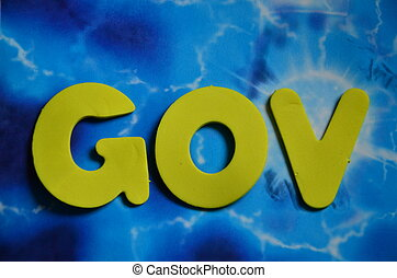 word gov on a abstract background