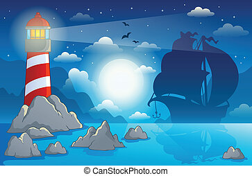 Lighthouse theme image 4 - eps10 vector illustration