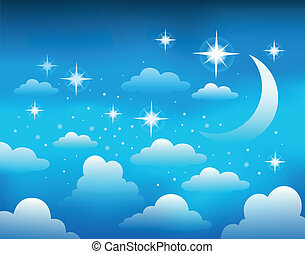 Night sky theme image 1 - eps10 vector illustration