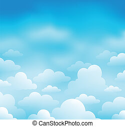 Sky and clouds theme image 1 - eps10 vector illustration