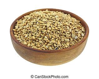 Sunflower Kernels in Bowl - A full bowl of organic sunflower...