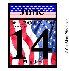 2013 june 14th flag day calendar